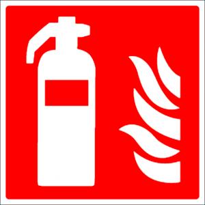 Brandblusser bordje