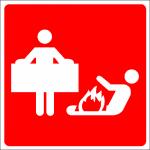 Brandblusdeken sticker 150