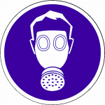 Adembescherming Verplicht sticker