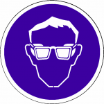 Veiligheidsbril Verplicht sticker