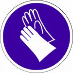 Veiligheidshandschoenen Verplicht sticker