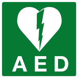 AED Afm. 200 x 200 mm Bordje RE-P2.56