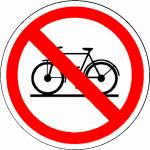 Verboden Fietsen Te Plaatsen sticker