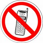 Verboden GSM bordje Verboden GSM sticker