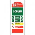 Info Blusser Schuim sticker