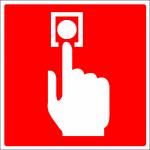 Handmelder bordje Handmelder sticker