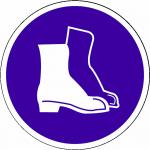 Veiligheidsschoenen verplicht sticker Veiligheidsschoenen verplicht bordje